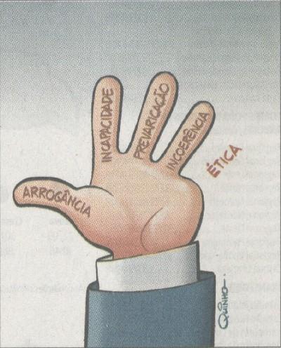 Resultado de imagem para dedo estrangeiro na lava jato charge